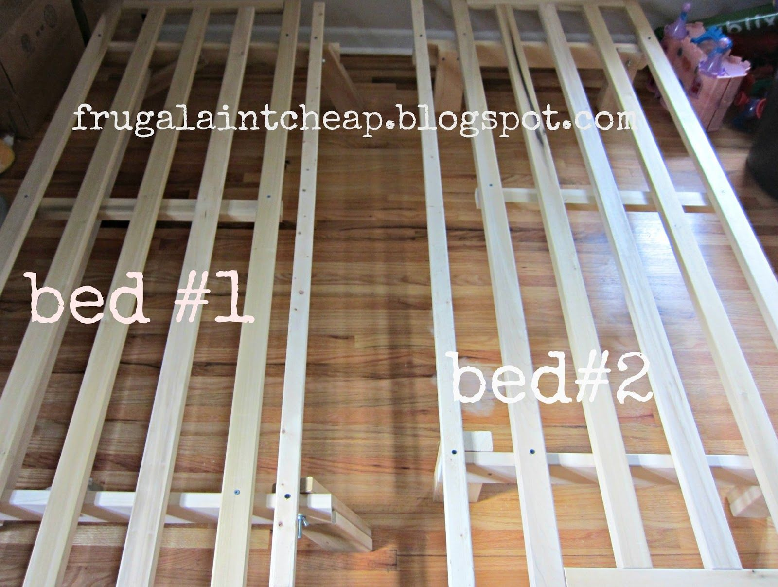 Frugal Aint Cheap: Futon to twin size beds | low cost projects ...