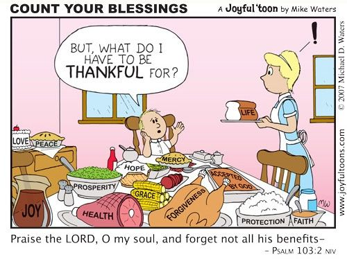 Image result for count your blessings cartoon