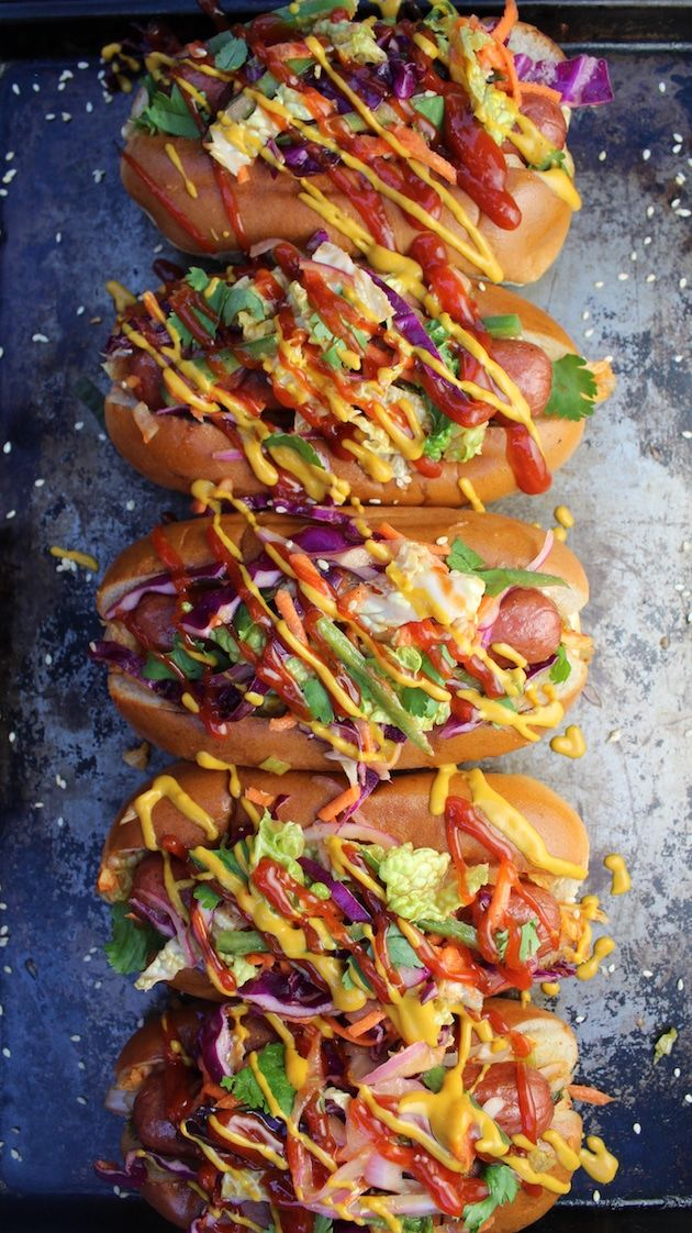 Korean Slaw Dog Recipe | Taste And See
