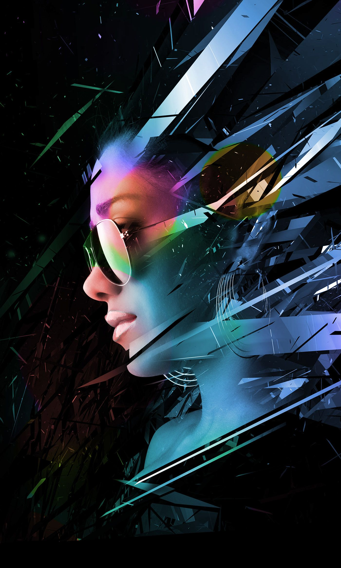 girls abstract 2 + free wallpaper download on Behance in