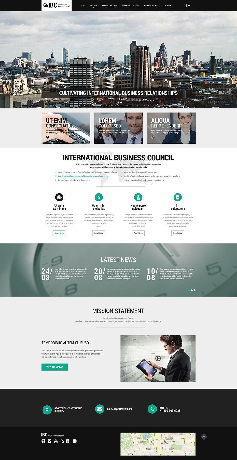 Corporate Website Template 54570 Business Web Design Website Design Layout Business Website Design