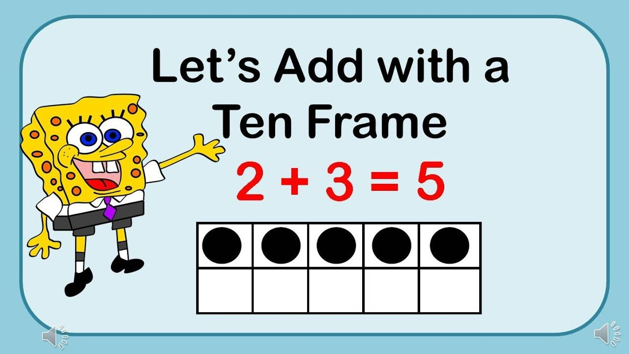 Adding with a Ten Frame - This is a YouTube video to help kids ...