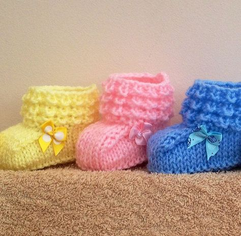 Baby Bootie Knitting Patterns | Knitting patterns, Patterns and Babies
