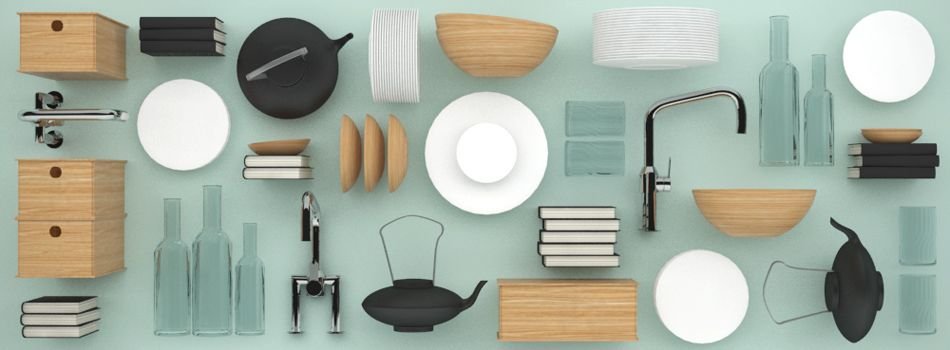 Model Set: This Set Of Muji Inspired Breathes Life Into Your Kitchen  Interior Visuals.