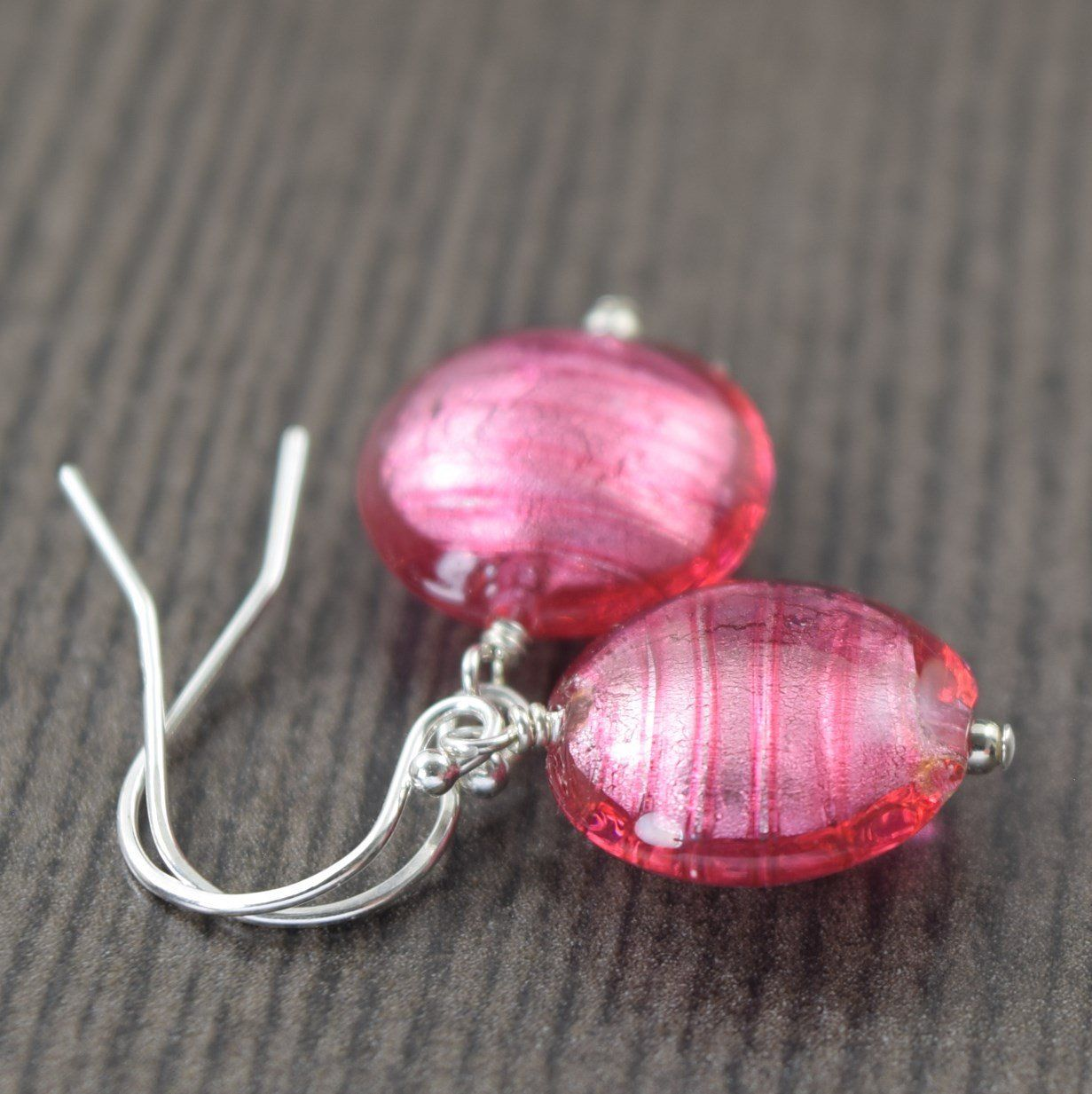 Pink Murano glass earrings | Shopify Merchant Community Board ...