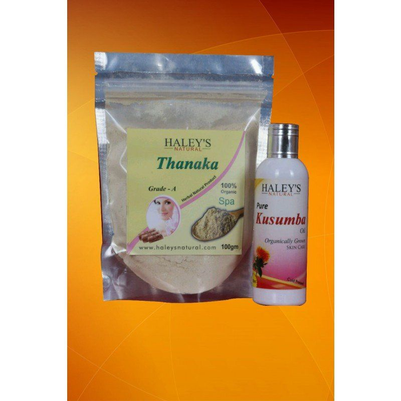 Thanaka Powder And Kusuma Oil For Permanent Hair Removal Hair