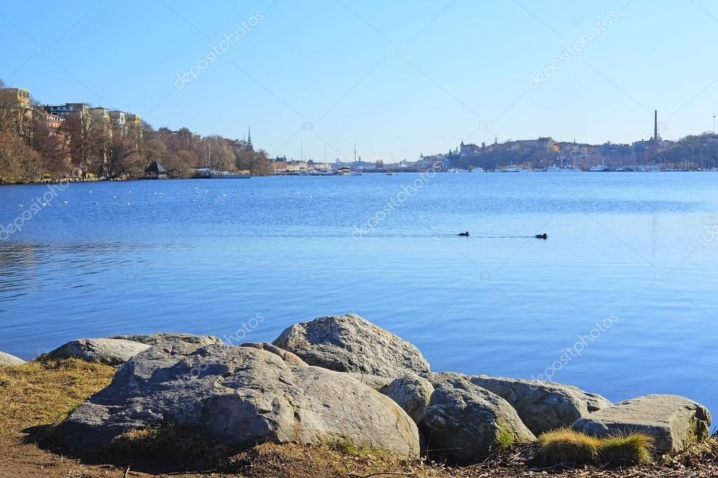 Sea infront of Stockholm Old City - Stock Photo , #affiliate, #Stockholm, #infront, #Sea, #Photo #AD