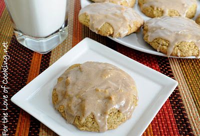 Pumpkin Cookies with Cinnamon Icing --   http://www.fortheloveofcooking.net/2011/10/pumpkin-cookies-with-cinnamon-icing.html
