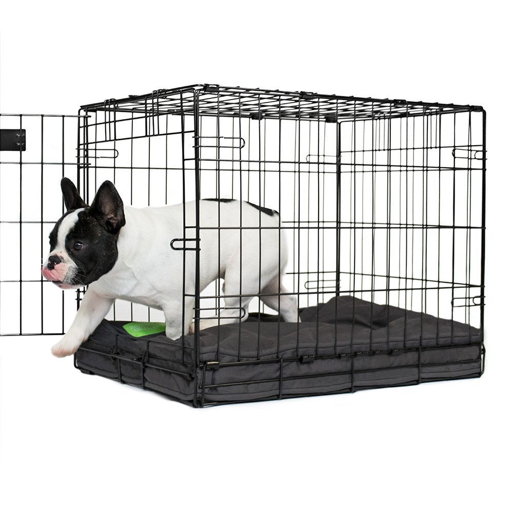 grey orthopedic dog crate pad | dog crate pads and dog crate