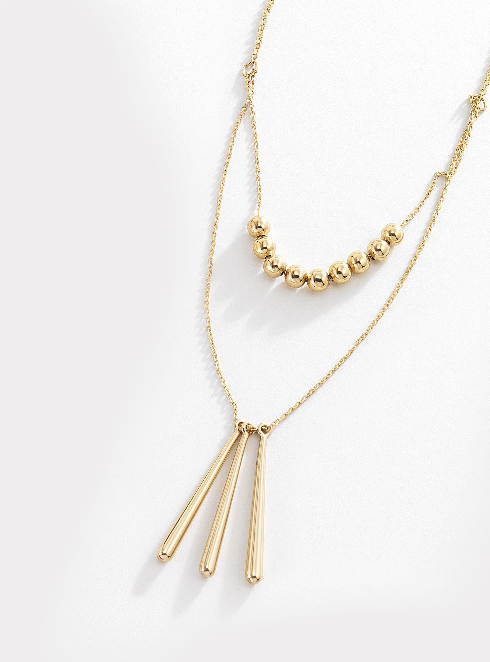 e8db38e4964c Collar compuesto por doble cadena con colgantes