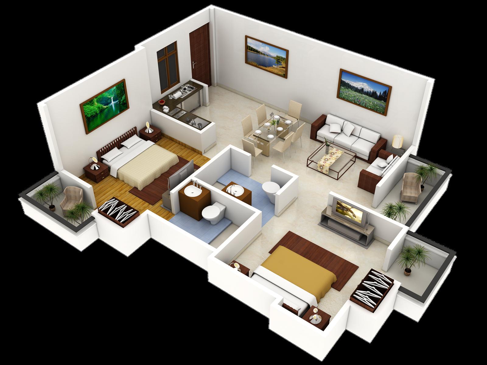 17 Best 1000 images about 3D Housing PlansLayouts on Pinterest 3d