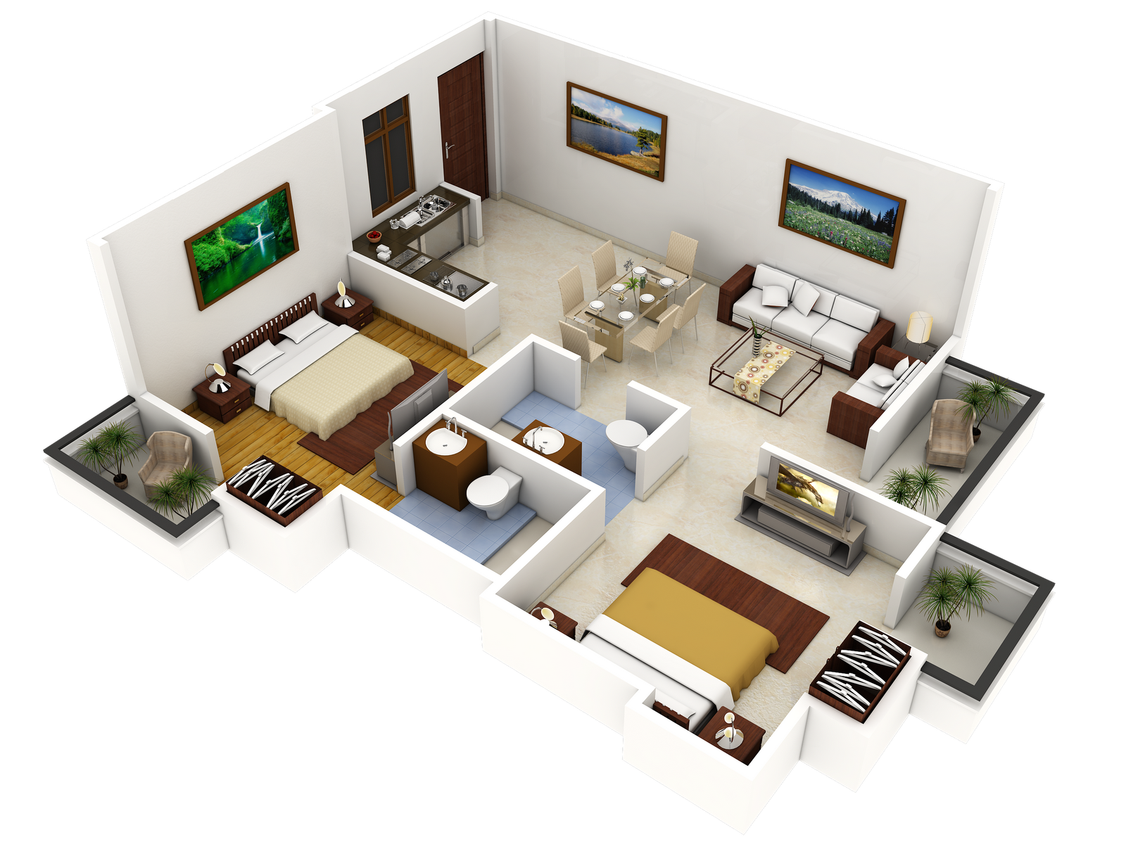Good 3d House Blueprints And Plans With 3d House Plan 3d Floor Plans Pinterest 3d House