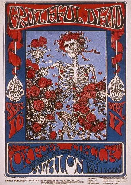 sept 16 17 1966 grateful dead oxford circle avalon ballroom san francisco ca poster art. Black Bedroom Furniture Sets. Home Design Ideas