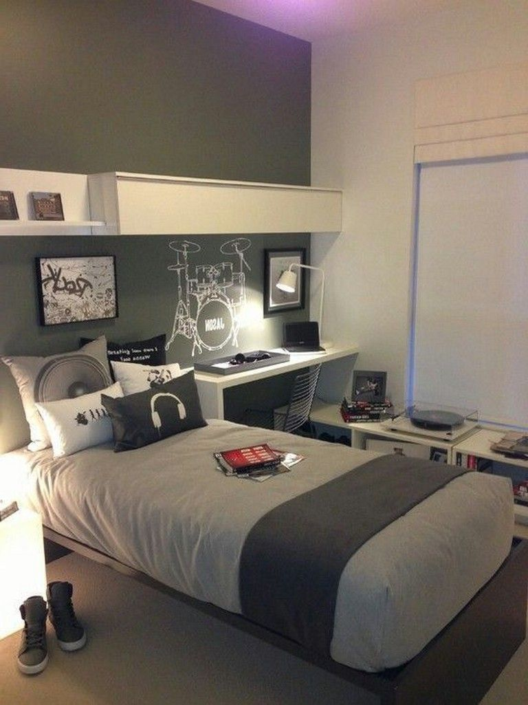 30+ Classy DIY Organization Ideas For Bedroom Teenage Boys ... on Teenage Room Colors For Guys  id=89652