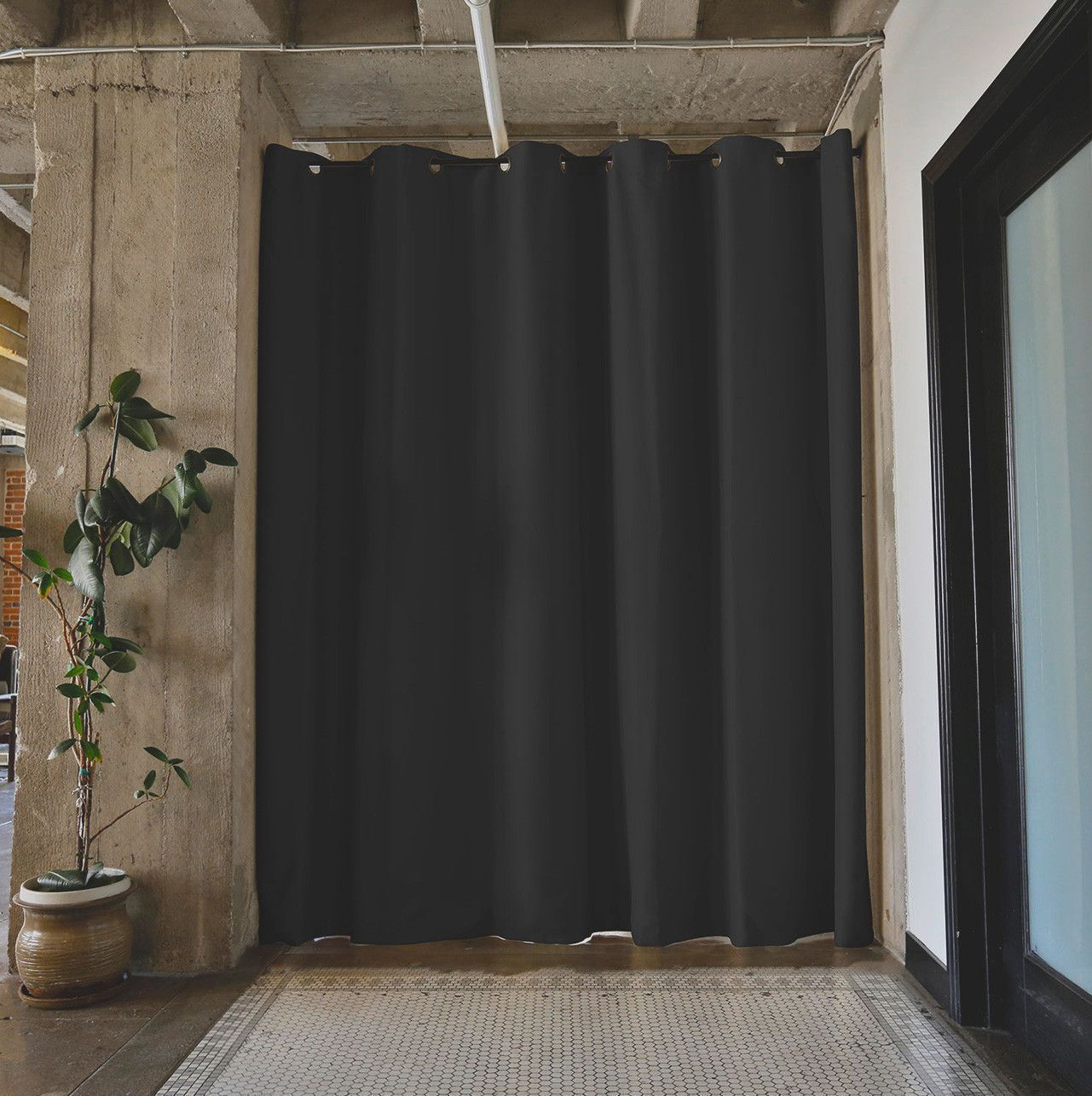 Cool u unique floor to ceiling shower curtain ideas for small