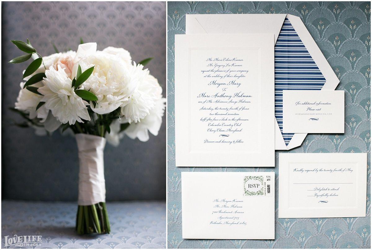 Columbia country club wedding wedding day stationary pinterest