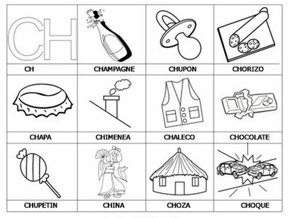 Palabras Con Ch Palabras Con Ch Actividades De Letras Aprendo A Leer
