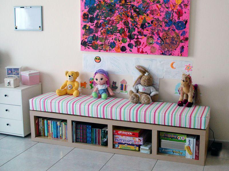 banquette chambre enfant salle de jeux pro pinterest banquette enfants et chambre enfant. Black Bedroom Furniture Sets. Home Design Ideas