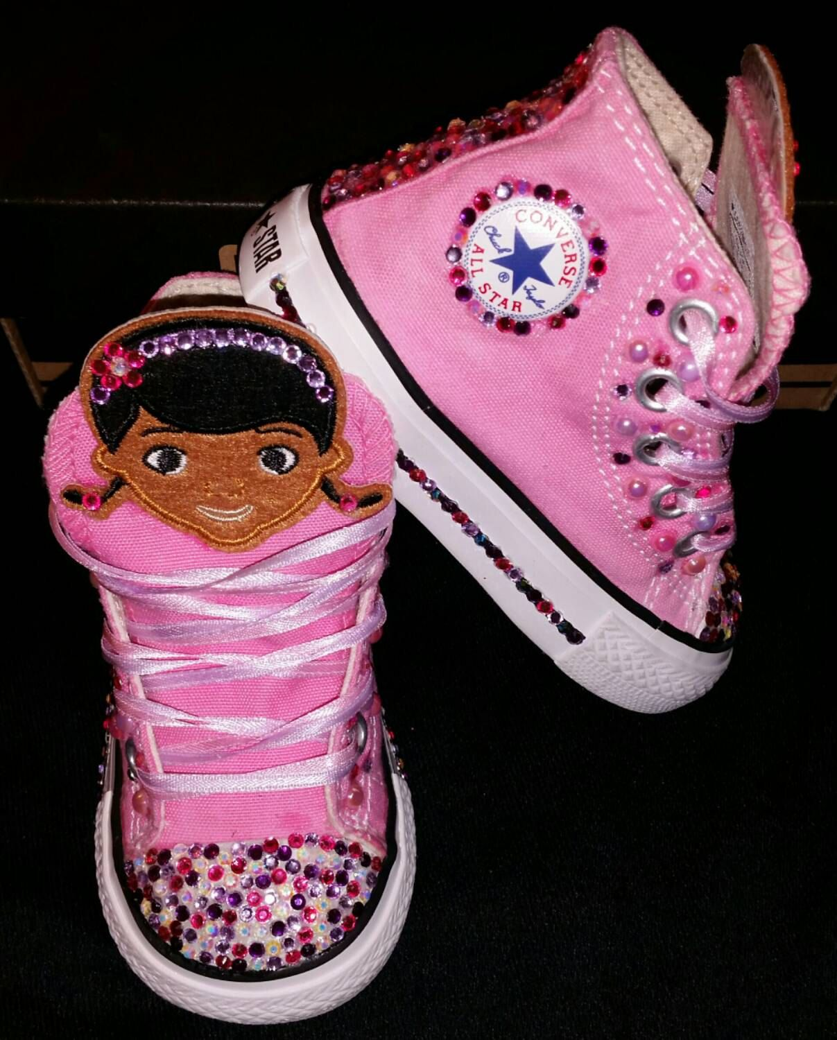 0af0072cf9c9 Girls Custom Converse- Doc McStuffins- Minnie Mouse- Hello Kitty- Frozen-  Dora- Sesame Street- Cartoons and Special Requests by DivineKidz on Etsy