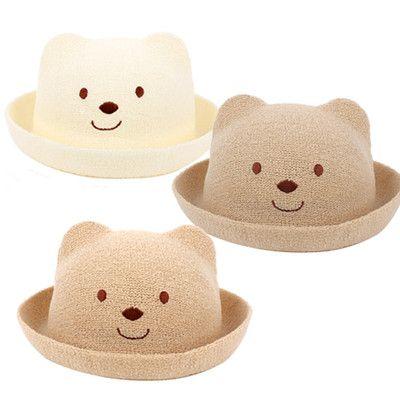 466978519 Cute Baby Bear Unisex Kids Boys Girls Cap Fedora Trilby Summer Hats 3 Size  | eBay