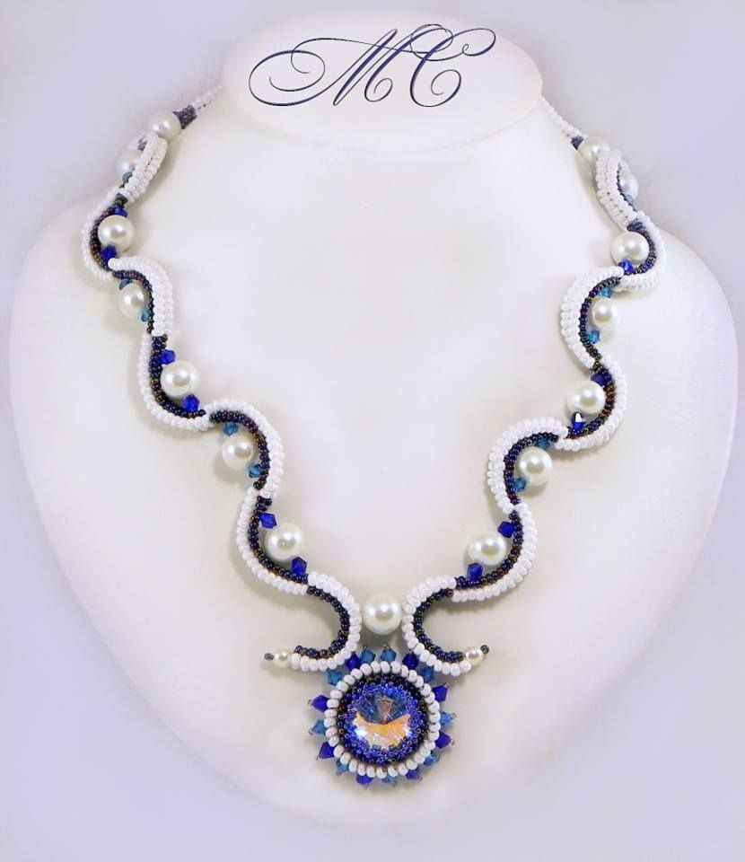 Inspiration - Beautiful Beaded Necklace Creations by Marina Somova featured in Bead-Patterns.com Newsletter!