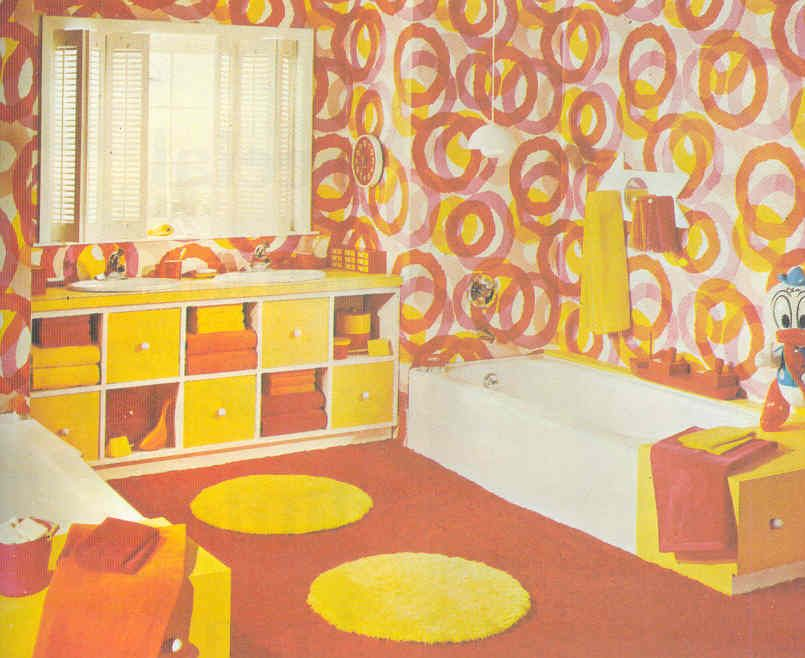 Gold Country Girls Those 70 S Rooms In Orange And Yellow Retro Room Retro Bedrooms Retro Bathrooms