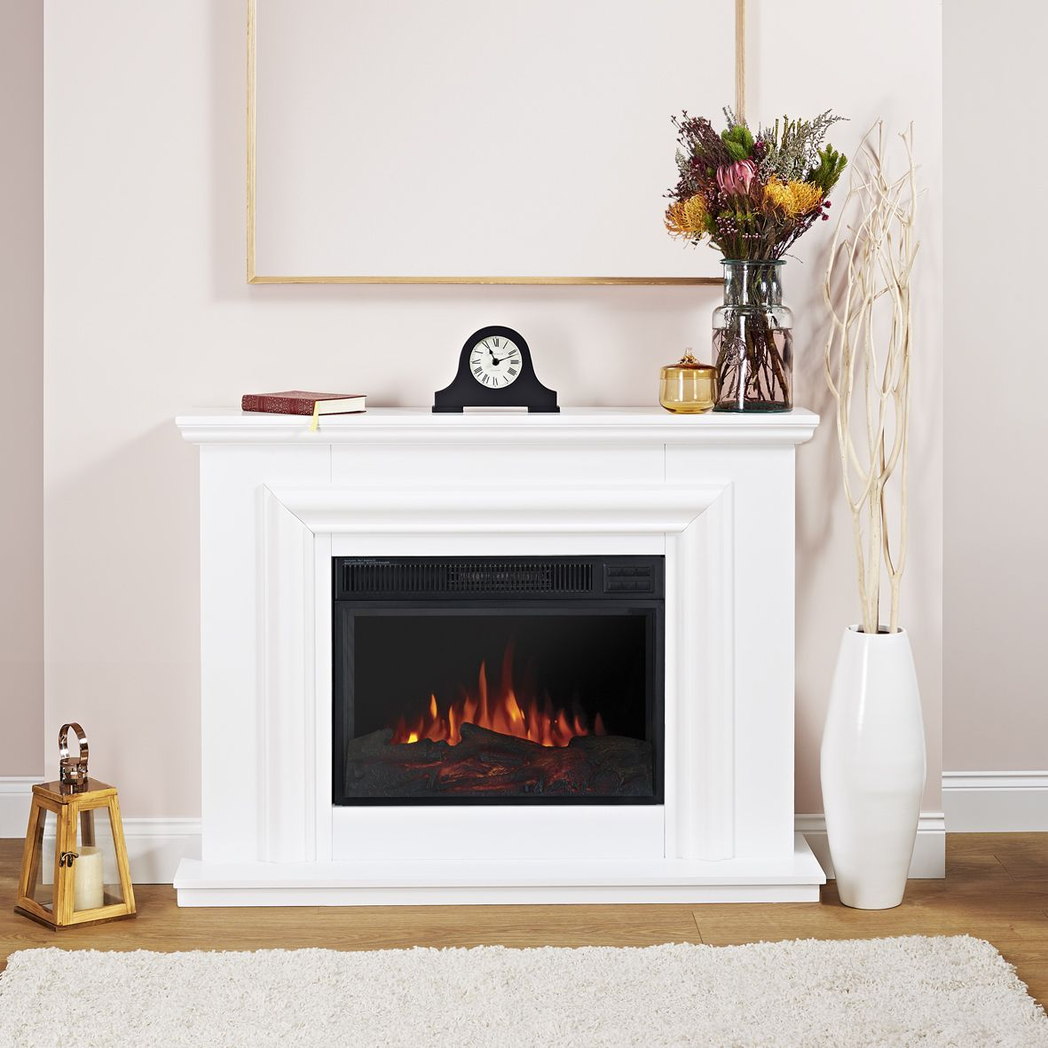 focal point amersham white led electric fire suite electric fire