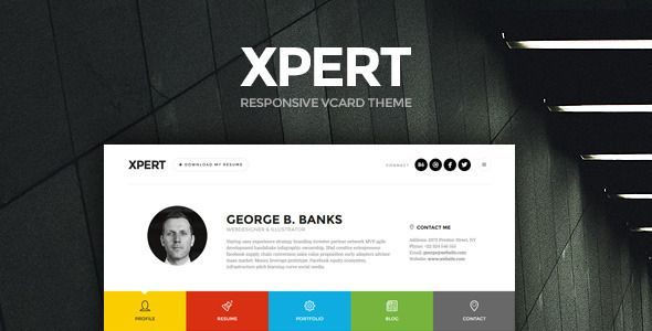 Xpert - Responsive CV Resume WordPress Theme  We present you our - wordpress resume theme