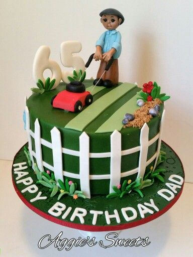 Birthday Cake For A Guy Who Loves His Yard Work Aggies Sweets - Birthday cake for a guy
