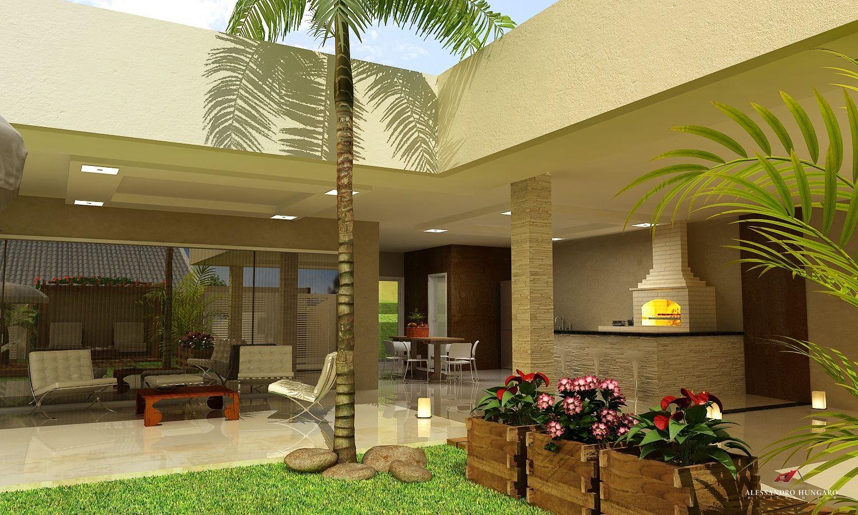 Arquitetura E Interiores Area De Lazer Piscina E Churrasqueira