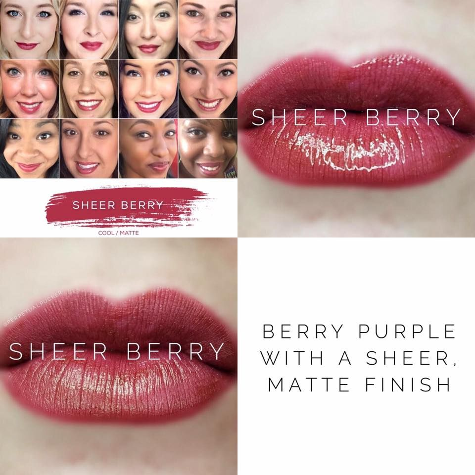 Sheer Berry LipSense lipstick - Matte, berry, and beautiful! Lasts 4-18 hours, and is smudge-proof, vegan, and cruelty free!