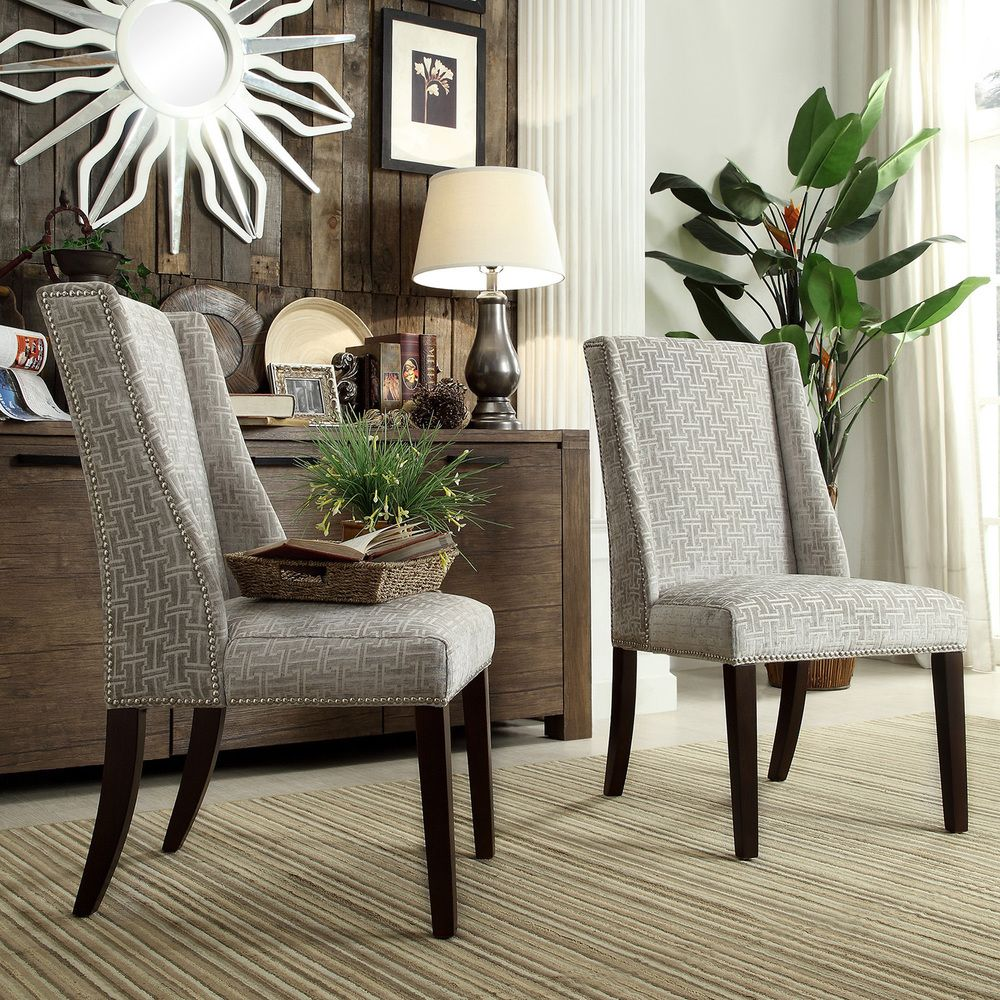 INSPIRE Q Geneva Grey Link Wingback Hostess Chairs (Set of 2)   Overstock.  RegencyDining TableDining ...