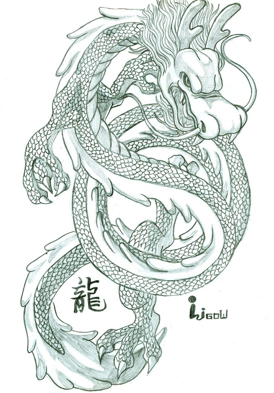 Chinese Dragon By Oligow On Deviantart Dragon Drawing Chinese Dragon Chinese Dragon Drawing
