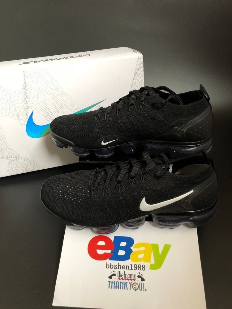 e82aea9c34f61 Nike Air Vapormax Flyknit 2 All Black 942842-001  Nike  AthleticSneakers