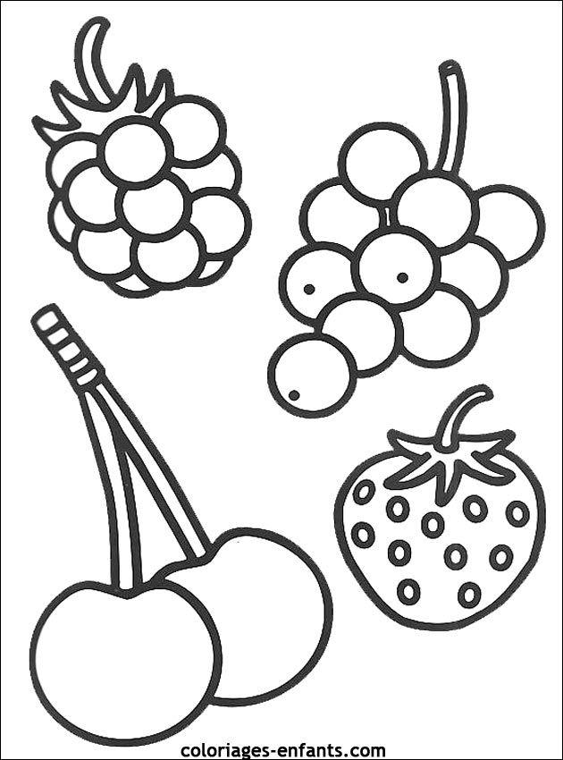 Coloriages Et Jeux De Fruits Coloriage Fruits Dessin