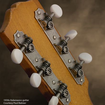 Golden Age Restoration Tuners for Solid Peghead Guitar with Scallop-end - stewmac
