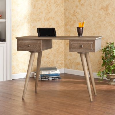 leo desk burnt oak bernie and phyls vanity love pinterest