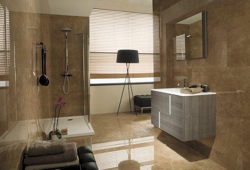 Natuursteen tegels natuursteen tegels pinterest natuursteen tegels en sanitair - Moderne badkamer betegelde vloer ...