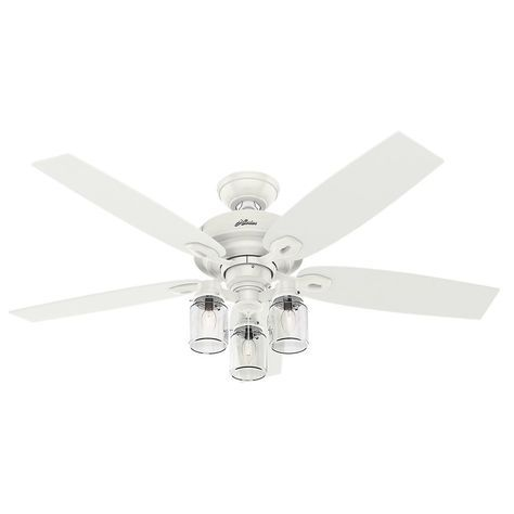 Hunter Crown Canyon 52 in Indoor Fresh White Ceiling Fan White