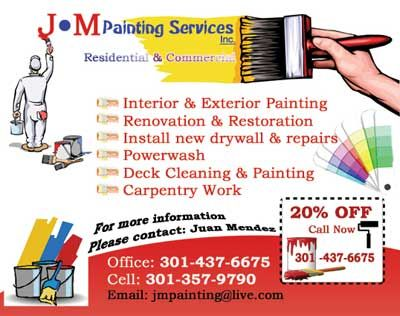 Painting companycontractor business card construction for Painting and decorating advertising ideas