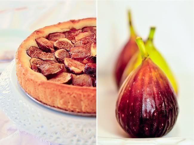 fig & frangipane tart with a peach amaretto glaze @ dallamiacucina,com