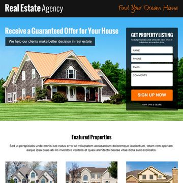 17 Best images about Real Estate Landing Pages on Pinterest ...
