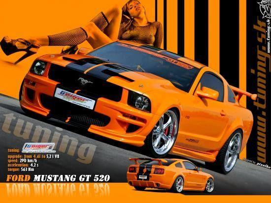 Carte virtuelle Mustang GT 520 http://bit.ly/1qrJswz #CartePostale #Wallpaper