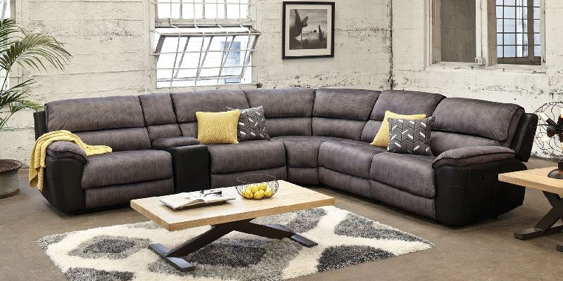 Vienna Fabric Corner Recliner Sofa Lounge Suites Living Room