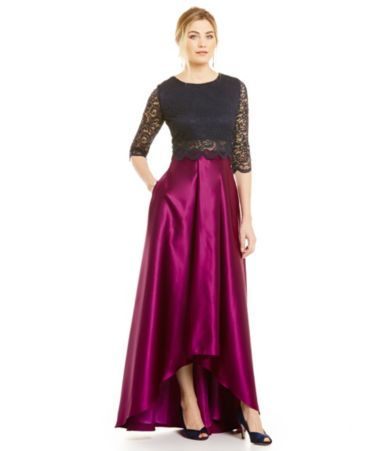 Shop For Betsy And Adam Lace Top Ball Skirt Dress At Dillards