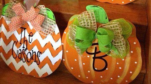 Heart's Desire Local Business FB Pumpkins for door