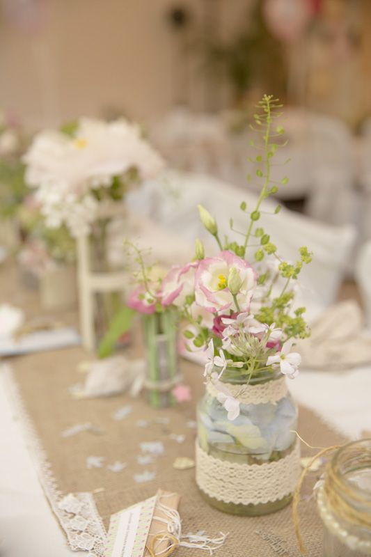 blumen vintage hochzeit rosa wedding decoration