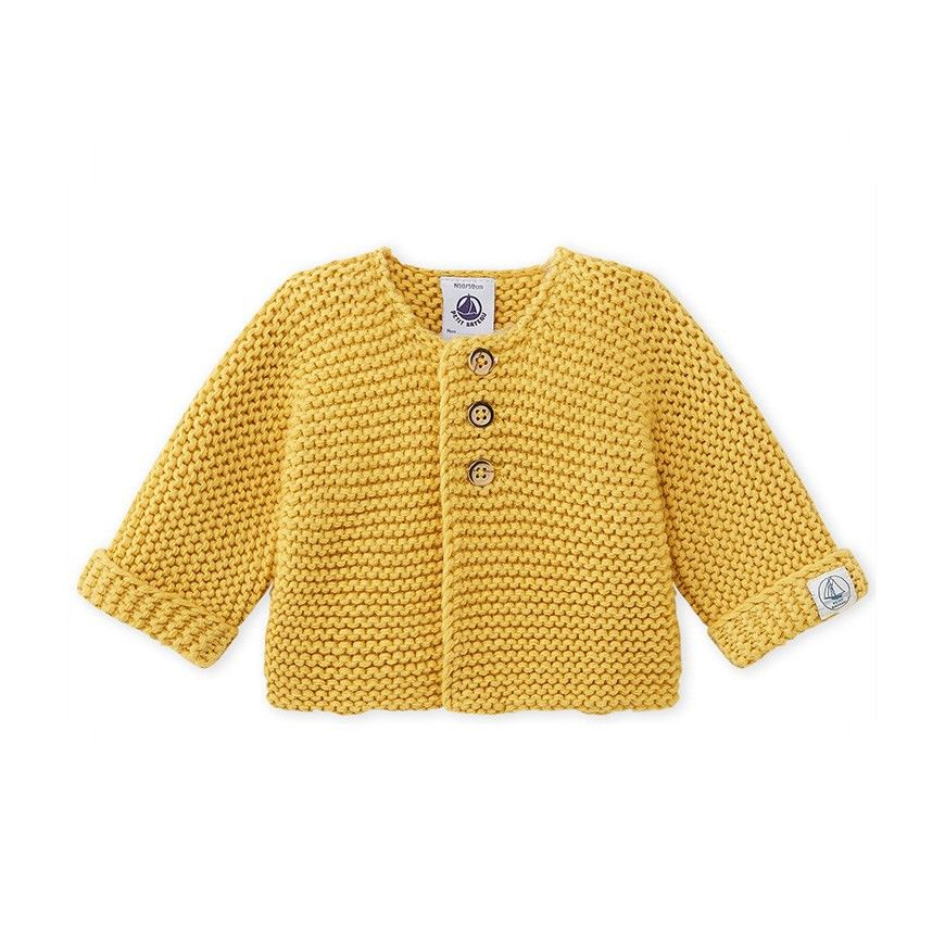c0c4e73f4f49 Petit Bateau Baby Cardigan In Wool And Cotton Mix - Smoking 1 M (21 ...