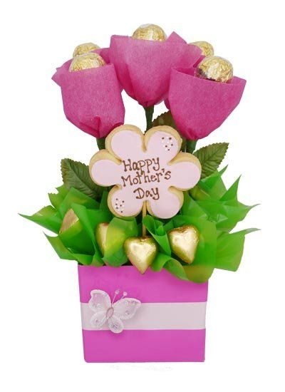 Mothers day flowers and chocolates flower inspiration for Homemade edible mother s day gifts