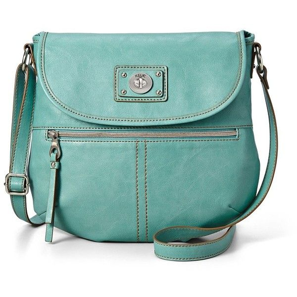 Relic Prescott Flap Crossbody Bag (640 ZAR) ❤ liked on Polyvore featuring bags, handbags, shoulder bags, mint, crossbody purse, green crossbody, vegan handbags, faux leather crossbody and green purse
